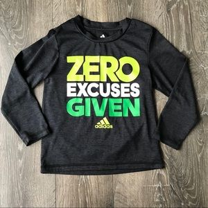 Adidas Boys Zero Excuses Given Long Sleeve Tee